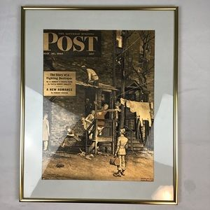 Norman Rockwell Homecoming G.I. framed print